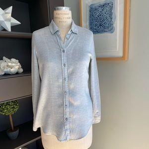 Banana Republic gray blouse size S